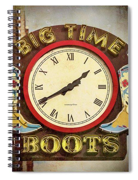 Big Time Boots - Nashville Spiral Notebook