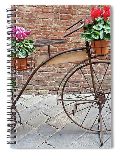 Bike Art - Siena, Italy Spiral Notebook