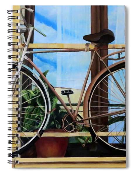 Bike In The Window Spiral Notebook