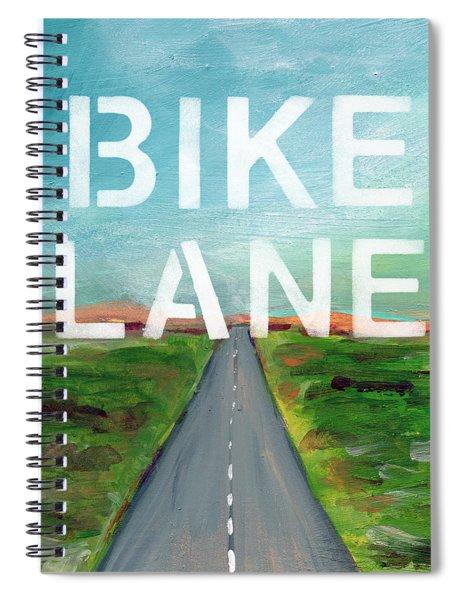 Bike Lane- Art By Linda Woods Spiral Notebook by Linda Woods