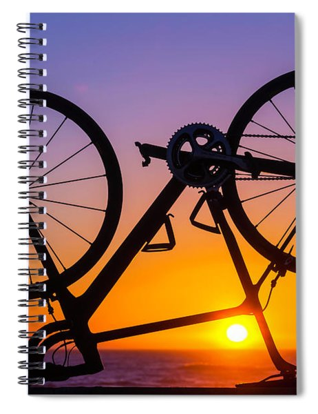 Bike On Seawall Spiral Notebook