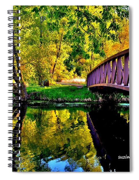Bike Path Bridge Spiral Notebook