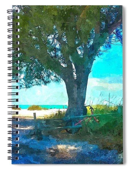 Bike To The Beach Spiral Notebook