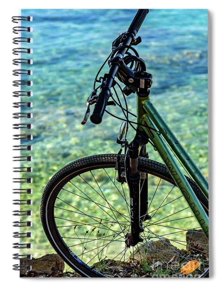 Biking The Rovinj Coastline - Rovinj, Istria, Croatia Spiral Notebook