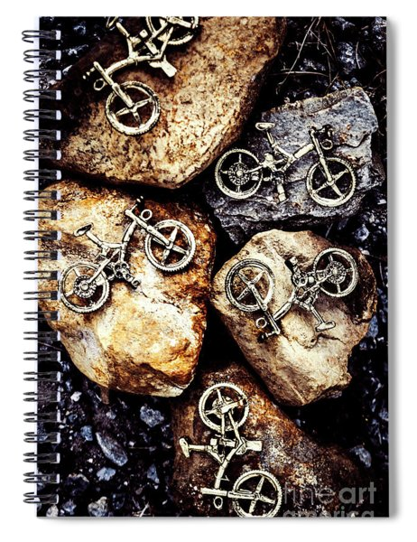 Biking Trail Scene Spiral Notebook
