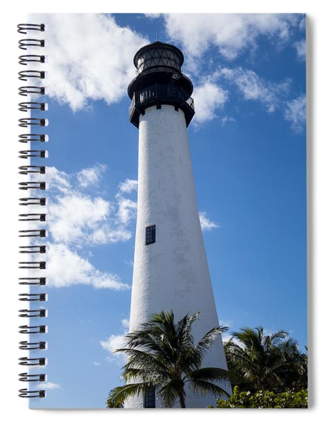 Bill Baggs Lighthouse Cape Florida State Park Palm Trees Spiral Notebook