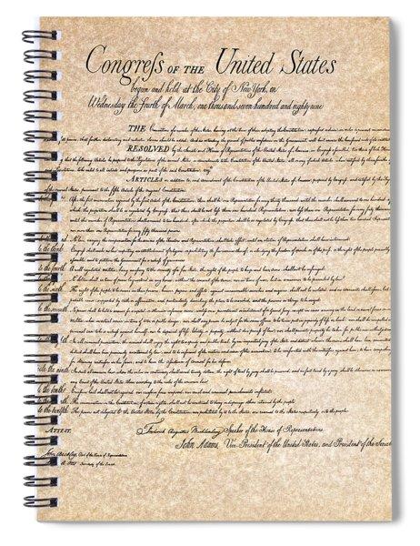 Bill Of Rights Spiral Notebook