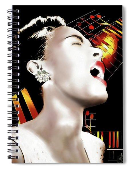 Billie Holiday Spiral Notebook