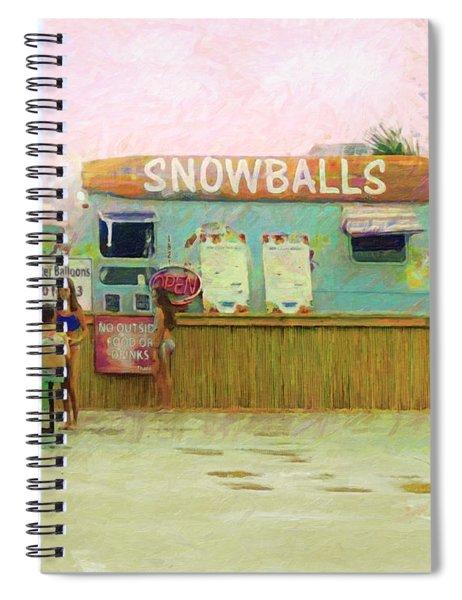 Biloxi Beach Snowball Stand Mississippi Gulf Coast Spiral Notebook