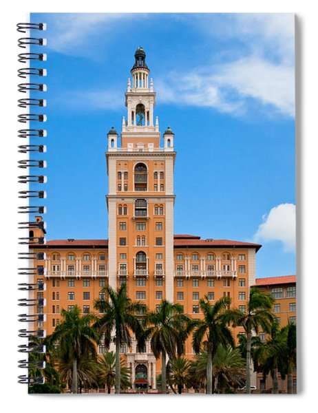 Spiral Notebook featuring the photograph Biltmore Hotel by Ed Gleichman