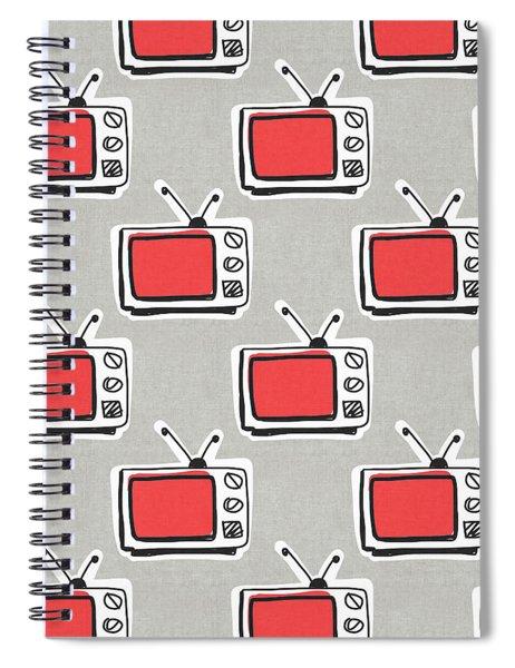 Binge Watching- Art By Linda Woods Spiral Notebook