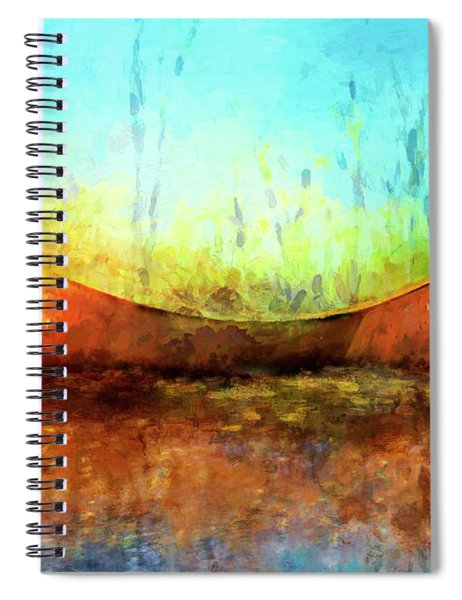 Birch Bark Canoe Spiral Notebook
