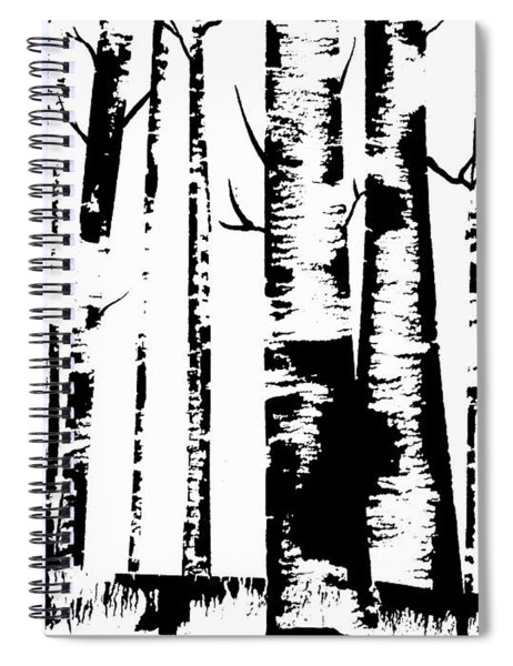 Birch Forest Black Spiral Notebook
