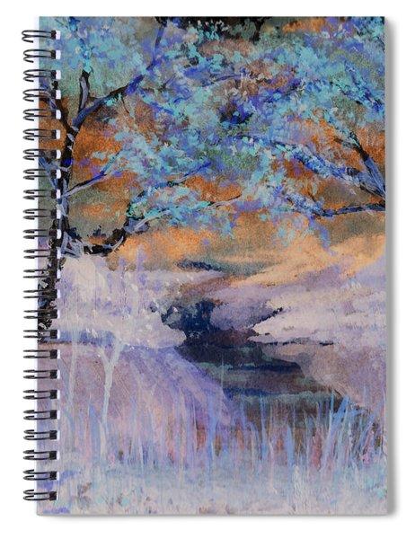 Birch Trees On The Ridge 2 Spiral Notebook