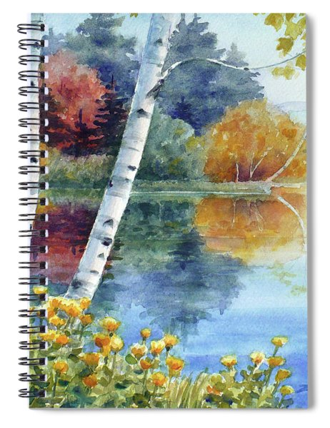 Birches At White Lake In Autumn Spiral Notebook