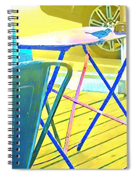 Bird At Jo's  Spiral Notebook