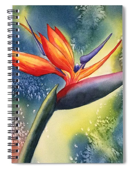 Bird Of Paradise Flower Spiral Notebook