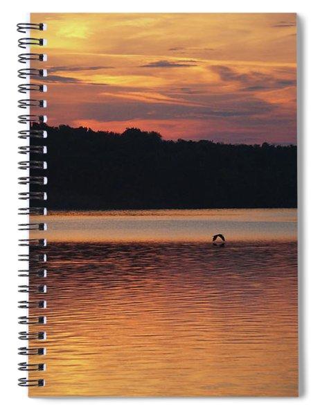 Bird Over Water Spiral Notebook
