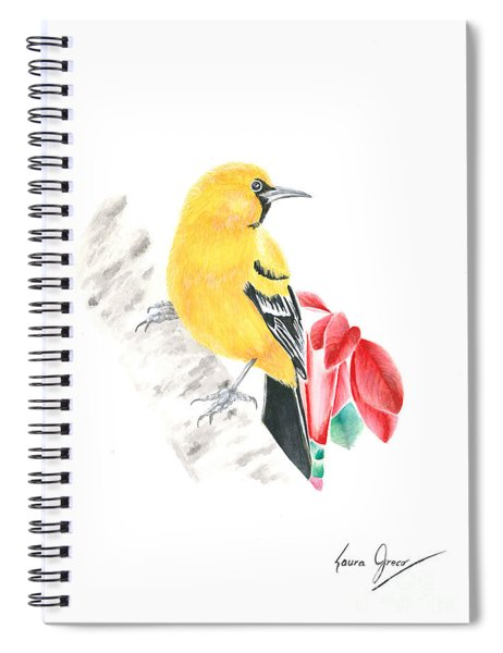 Bird In Yellow Spiral Notebook