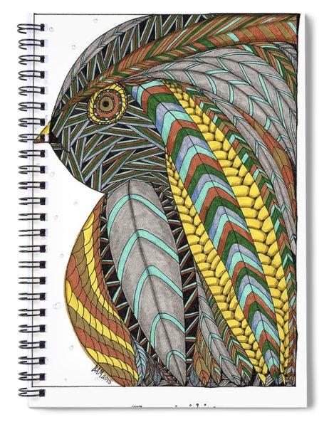 Bird_inquisitive_s007 Spiral Notebook