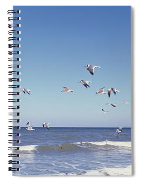 Birds Flying Over The Sea, Flagler Spiral Notebook