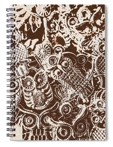 Birds From The Old World Spiral Notebook