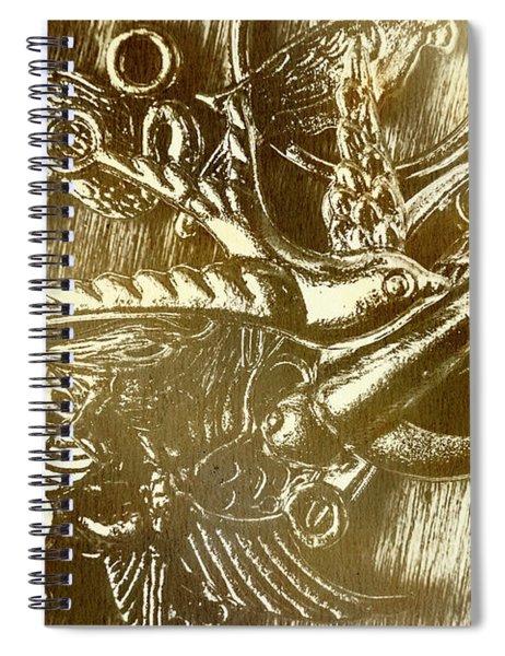 Birds Of Metal Spiral Notebook