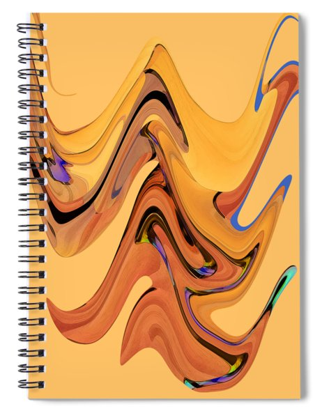 Spiral Notebook featuring the digital art Birds Of Paradise Improvisation by Gina Harrison