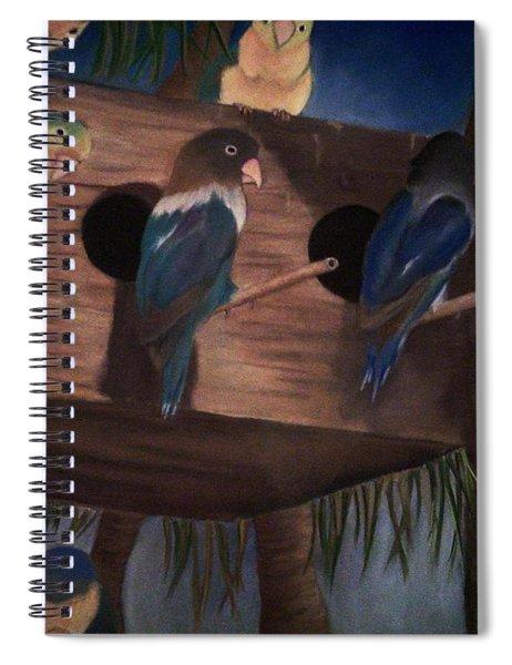 Birds Resting Spiral Notebook
