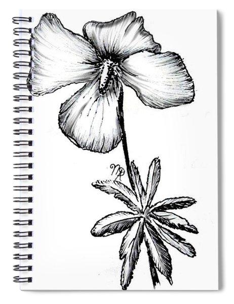Birdsfoot Violet Spiral Notebook