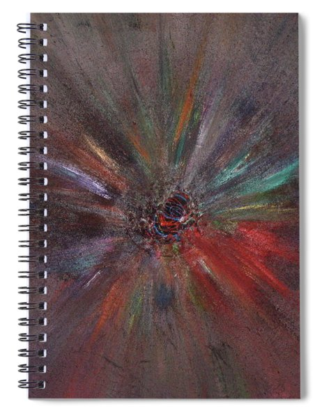 Spiral Notebook featuring the painting Birth Of A Soul by Michael Lucarelli