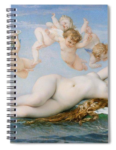Birth Of Venus Spiral Notebook