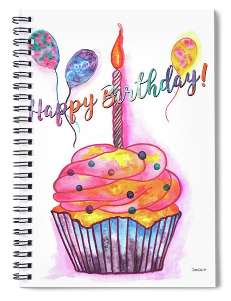 Birthday Cupcake Spiral Notebook