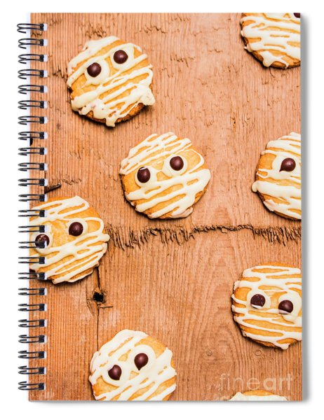Biscuit Gathering Of Monster Mummies Spiral Notebook