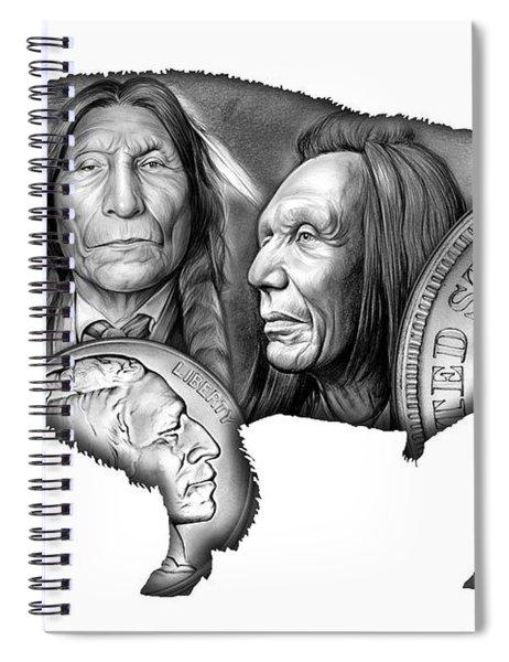 Bison Indian Montage 2 Spiral Notebook