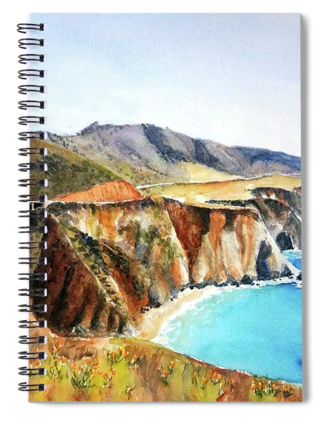 Bixby Bridge Big Sur Coast California Spiral Notebook