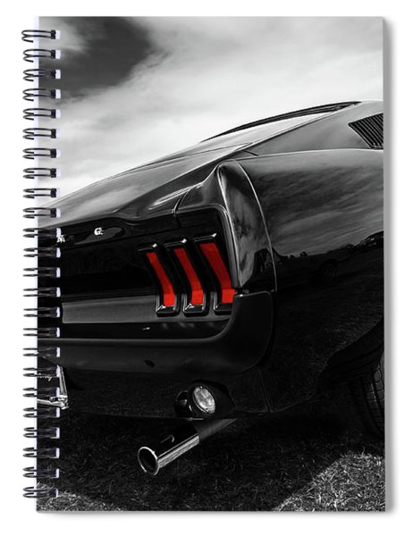 Black 1967 Mustang Spiral Notebook