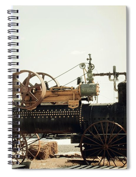 Black And Glorious Steam Machine Spiral Notebook