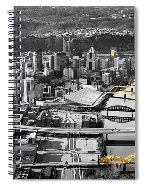 Black And Gold Pittsburgh  Spiral Notebook