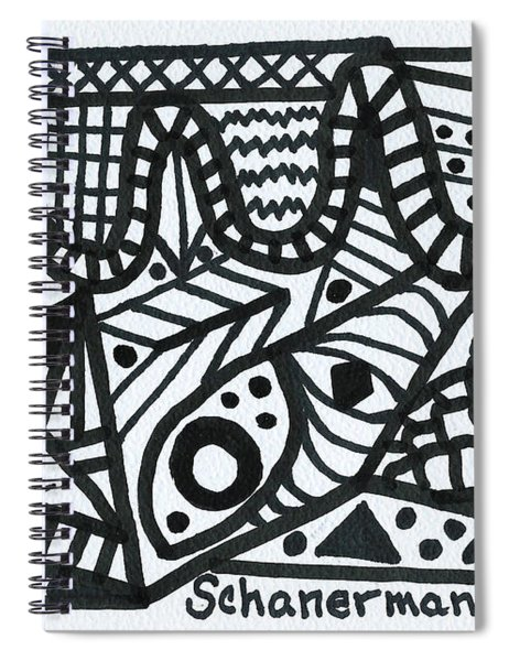 Black And White 1 Spiral Notebook