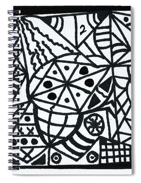 Black And White 2 Spiral Notebook