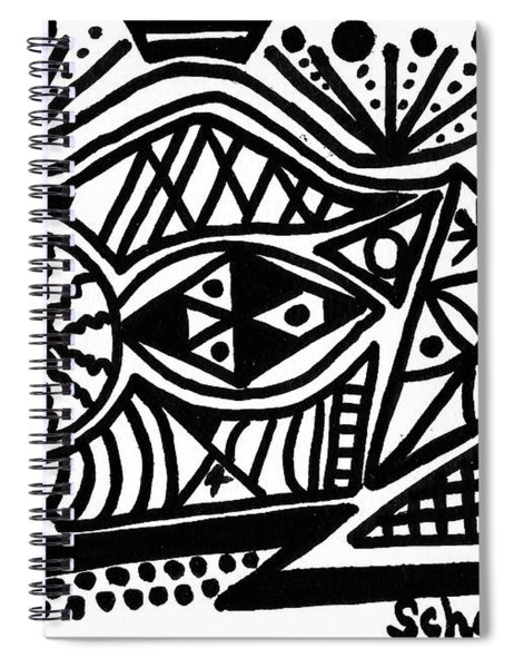 Black And White 4 Spiral Notebook