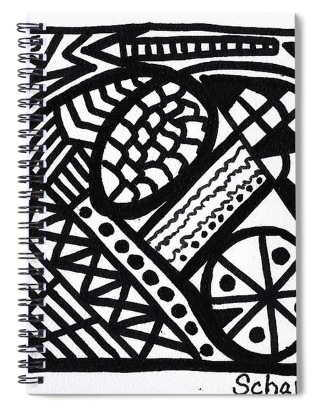 Black And White 5 Spiral Notebook