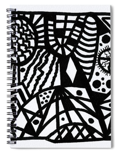 Black And White 6 Spiral Notebook