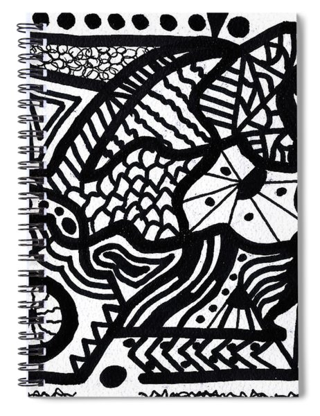 Black And White 7 Spiral Notebook
