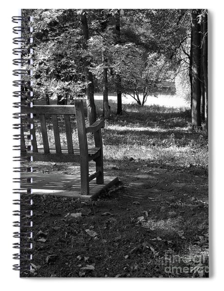 Black And White Bench Spiral Notebook