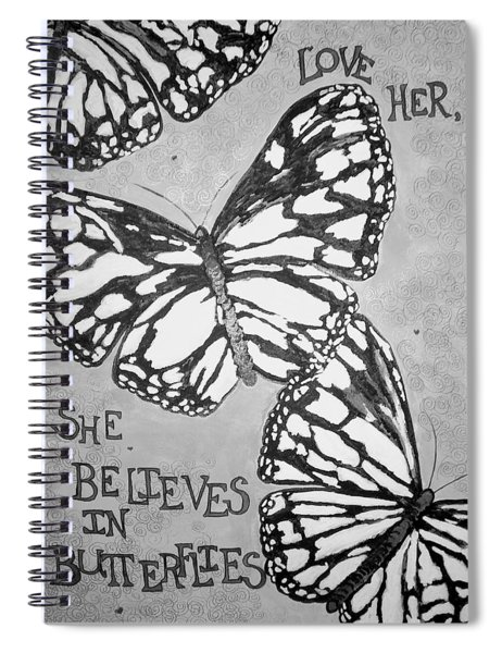 Black And White Butterflies. Spiral Notebook