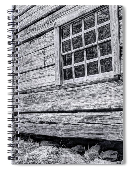 Black And White Cabin In The Forest Spiral Notebook