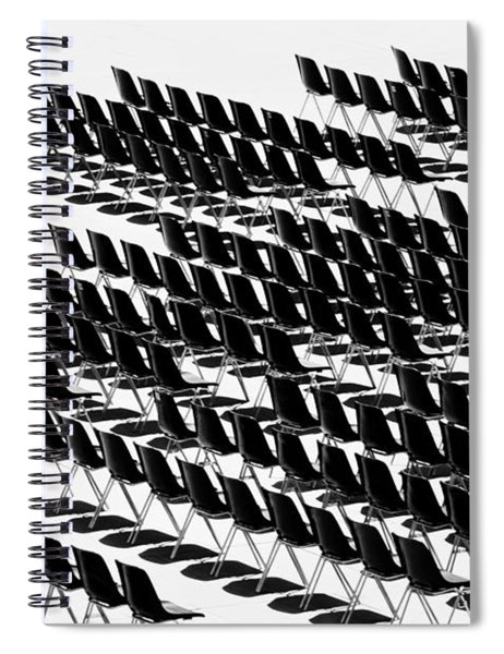 Spiral Notebook featuring the photograph Black And White Chairs by Mirko Chessari