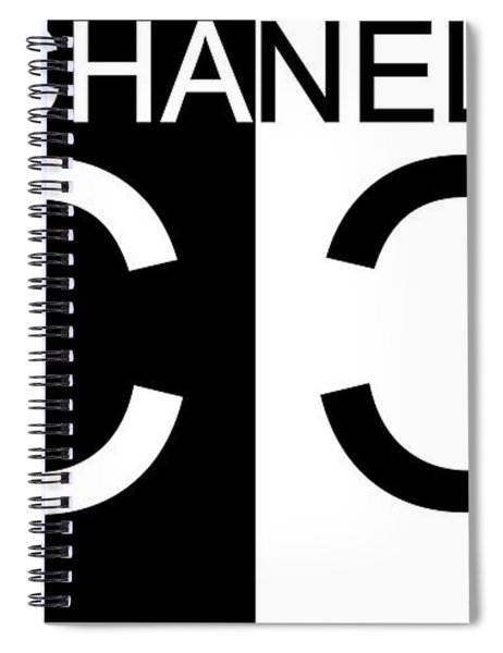 Black And White Chanel 2 Spiral Notebook
